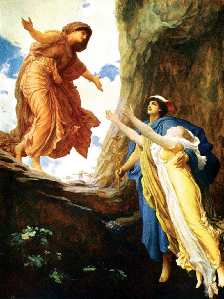 Lord Frederic Leighton'ın 1891 tarihli bu eserinin adı 'Persefone'nin Dönüşü'.
